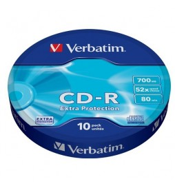 Verbatim CDR 52x 700MB 10P SP Extra Protection Wrap 43725