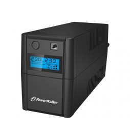 PowerWalker UPS LINEINTERACTIVE 650VA 2X 230V PL OUT, RJ11     IN|OUT, USB, LCD