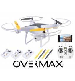 OVERMAX DRON XBEE 3.3 WIFI OVERMAX, KAMERA FPV LED 3 BATERIE