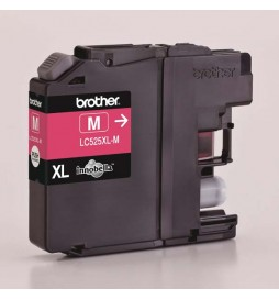 Brother oryginalny ink | tusz LC525XLM, magenta, 1300s, Brother DCP J100, DCP J105, MFCJ200