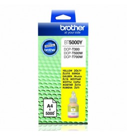 Brother oryginalny ink | tusz BT5000Y, yellow, 5000s, Brother DCP T300, DCP T500W, DCP T700W