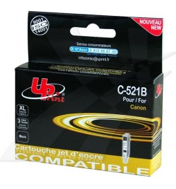 UPrint kompatybilny ink | tusz z CLI521BK, black, 10ml, C521B, z chipem, dla Canon iP3600, iP4600, MP620, MP630, MP980