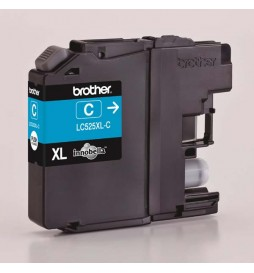Brother oryginalny ink | tusz LC525XLC, cyan, 1300s, Brother DCP J100, DCP J105, MFCJ200