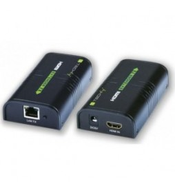 Techly Extender|splitter HDMI po skrętce Cat.5e|6|6a|7 do 120m, over IP, czarny